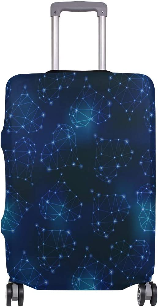 Beautiful Loving Constellation Travel Luggage Protector Case Suitcase Protector For Man/&Woman Fits 18-32 Inch Luggage