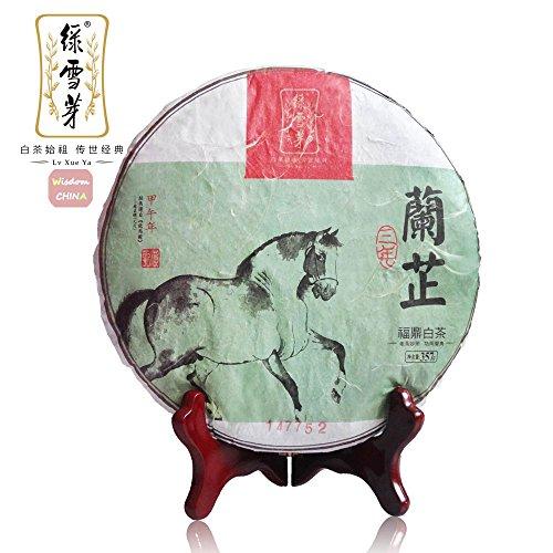 ''Lanzhi'' Organic 5-years Aged Shoumei Cake Lvxueya Fuding Baicha White Tea 357g by Lv Xue Ya White Tea+Wisdom China