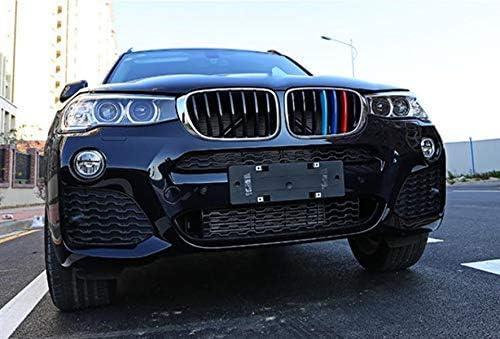 F/ür kompatibel mit B M W X3 X4 F25 F26 2011-2017 7 Balken einclipsen K/ühlergrill Kappe Schnalle Streifen Trim M Power Sport Tech Performance Auto Fahrzeug Styling Tuning