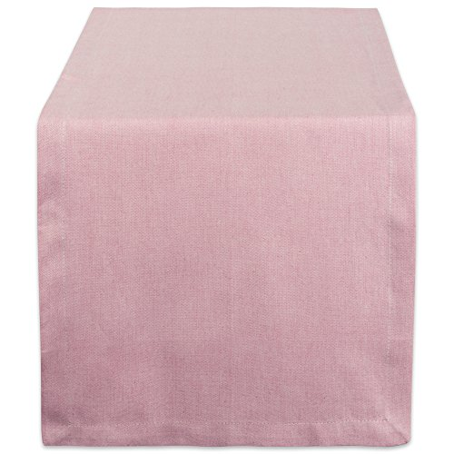 DII CAMZ38727 Solid Chambray, Table Runner 14x72, Chambray Rose - Pink Rose Table