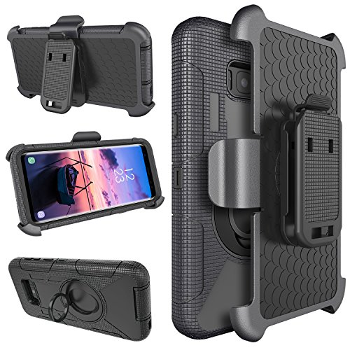 - Galaxy S8 Plus Case, UrbanDrama Samsung S8 Plus Case, Shockproof Belt Clip Holster Kickstand Rugged Hybrid PC Soft Silicone Bumper Protective Case for Samsung Galaxy S8 Plus 6.2