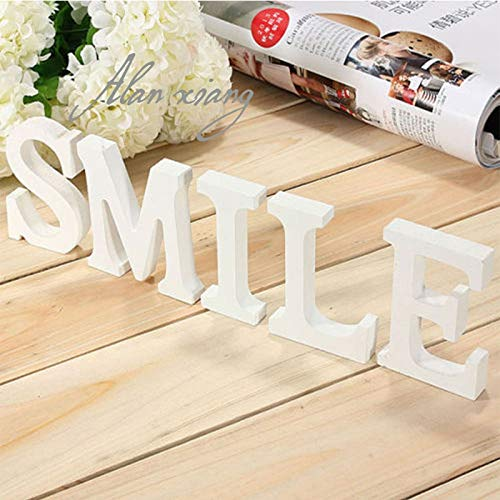 Best Quality - Mr&Mrs - Wood PVC Letter Alphabet Word Free Standing Wedding Party Home Decoration - by Kiartten - 1 Pcs - Red Wood Letters - Wood Letters White - Wood Letter Stickers