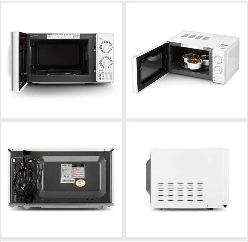 Huazai Utensilios de Cocina Horno de microondas pequeño electrodoméstico, 20L de Capacidad, Perilla mecánica, Tocadiscos Calefacción, 0-30 Minuto Cronología de la función, Blanca: Amazon.es: Hogar