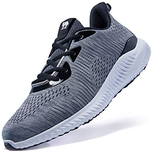 CAMELSPORTS Mens Running Shoes Lightweight Shockproof Walking Shoes Cushioning Men Sneakers for Gym Sports Casual Athletic Outdoor Gray Size 12