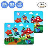 Silicone Children's Placemat, Portable Waterproof Non Slip Table Mat, Roll Up Reusable Travel Placemats for Dining Table, Safety Food Meal Mats for Kids (Pack of 2) (Bee)