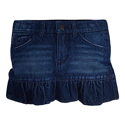 Jean Girls Skirt (Levi's Little Girls' Alessandra Scooter Skirt, Night Fade, 5)