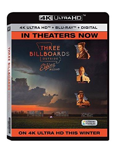 4K Blu-ray : Three Billboards Outside Ebbings, Missouri (With Blu-Ray, 4K Mastering, Ultraviolet Digital Copy, 2 Pack, )