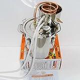 OLizee 3 Gal Water Alcohol Wine Distiller Moonshine Still Stainless Boiler 10-12L