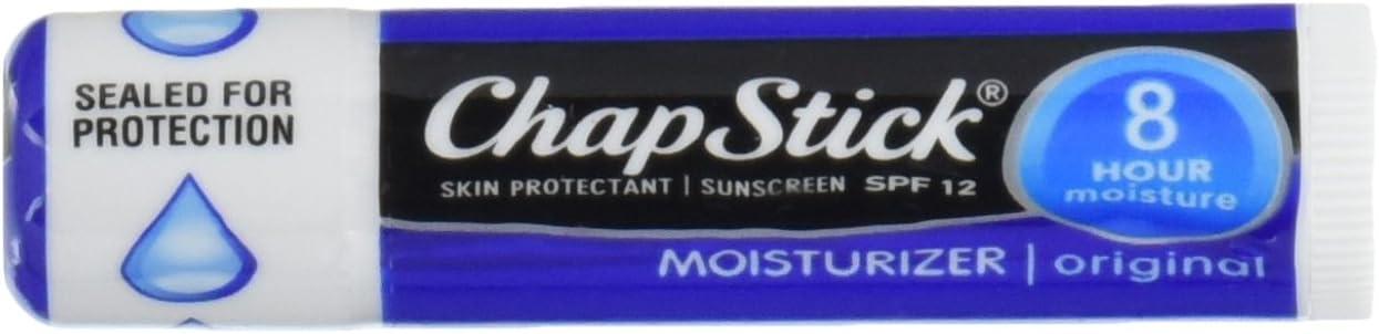 ChapStick Skin Protection Sunscreen Moisturizer, Original SPF 12 0.15 oz (Pack of 6)
