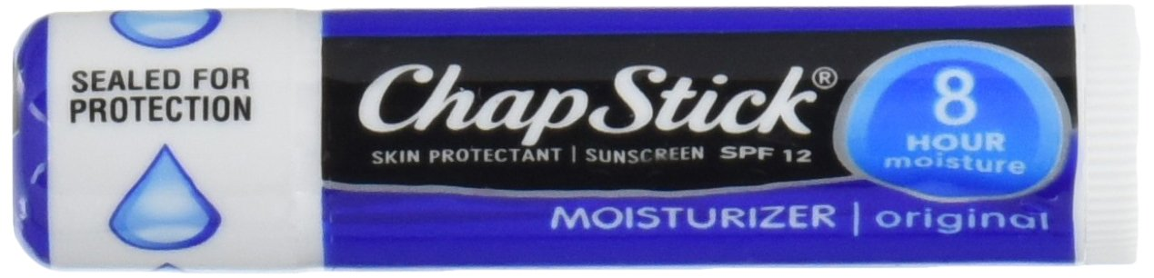 ChapStick Skin Protection Sunscreen Moisturizer, Original SPF 12 0.15 oz (Pack of 6) BHBUSAZIN026923