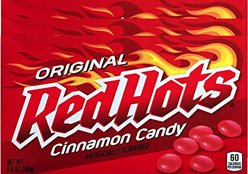 Original Red Hots Theater Box Cinnamon Candy Net WT 5.5 Oz (pack of 3) -