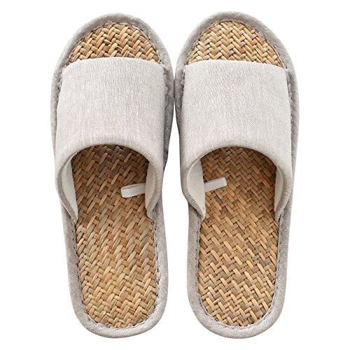 40 linen 39 Summer slip Beige non slippers slippers p8qtwWYRT
