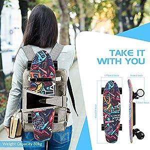 Casulo 25,4 » Skateboard Électrique avec Télécommande sans Fil, Planche à roulettes Électrique Vitesse de Maximale de 20 km/h, Moteur de 350 W