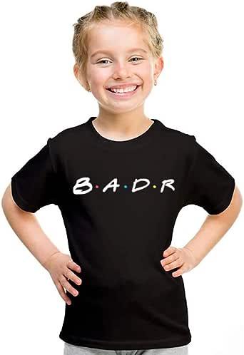 خربشات تيشيرت بناتي بإسم بدر ، مقاس 28 EU ، اسود