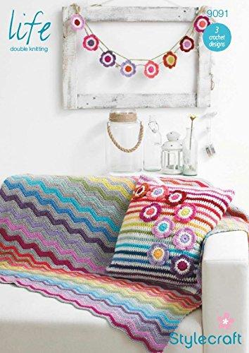 Stylecraft casa Manta, cojín y banderines Vida Crochet ...