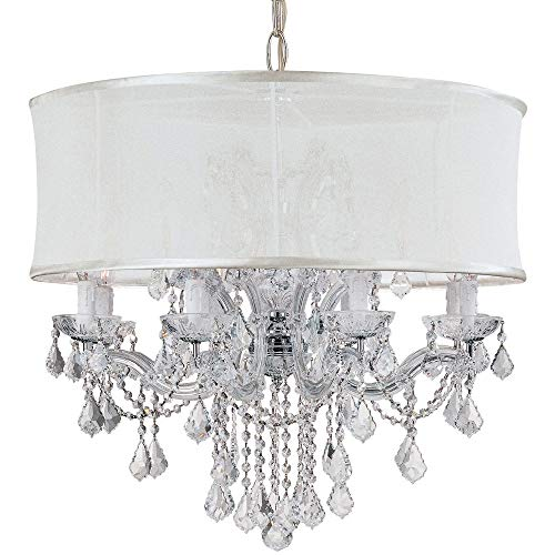 Brentwood Collection Twelve Light - Crystorama 4489-CH-SMW-CLM Crystal Accents Eight Light Chandeliers from Brentwood collection in Chrome, Pol. Nckl.finish,