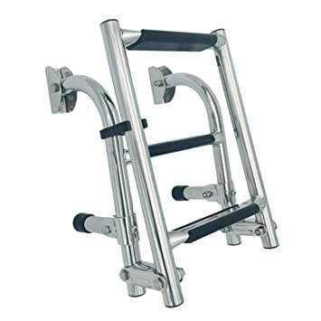 B Baosity Plegable Escalera de Acero Inoxidable 304 ...