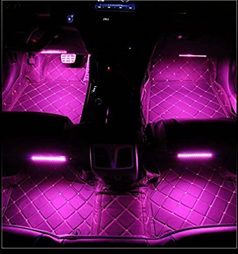 Sound Activated SOCAL-LED 4x LED Undercar Glow Light Strip RGB 8 Color LED Underbody Kit Underglow Accent Light Wireless Remote Control Frosted Cover 36 /& 48 Strips