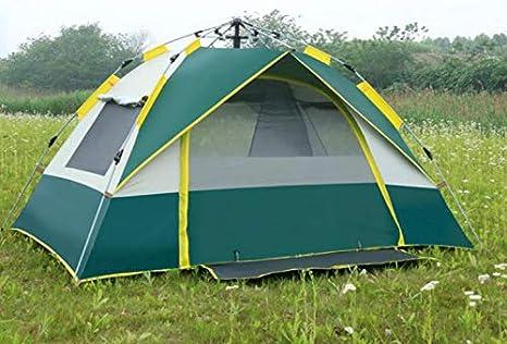 Les Festivals et Les Vacances Parfait pour Le Camping thematys Lumi/ère de Tente dext/érieur Tente /à Lancer en Vert et Blanc avec Sac de Transport
