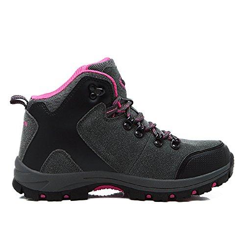 H Mixte Imperméable De Chaussures Marche Randonnée Randonnée Rouge Bottes mastery Nordique Gris Outdoor Adultes Trekking rFnrS