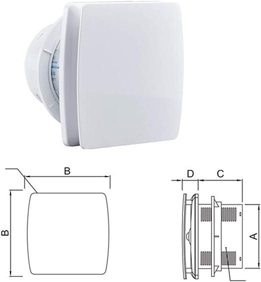 Ventilador Extractor silenciosa Ventilador Silenciador Hogar ...