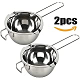 18/8 Stainless Steel Universal Double Boiler | Melting Pot | Smart Baking Tool (Set of 2)