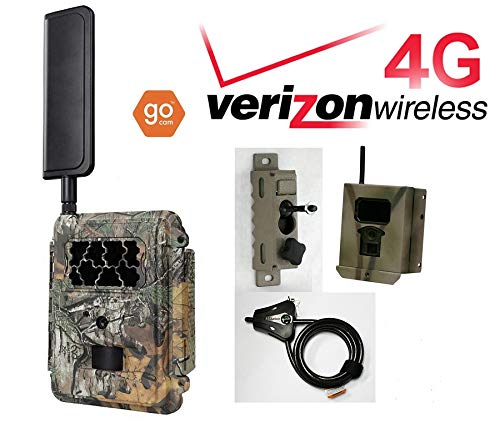 (Spartan Verizon 4G LTE GoCam Deluxe Package 720P Wireless Trail Camera Blackout IR (Camera, Lock Box, Cable, Swivel Mount))