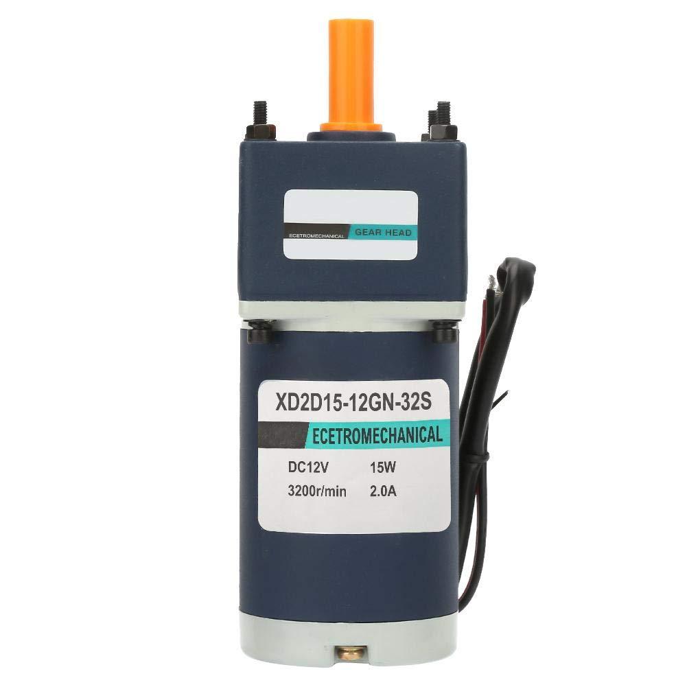 Motor de engranaje de reducción de imán permanente de velocidad ajustable de CC Eje de 8 mm CW/CCW 12V 15W(130 RPM)
