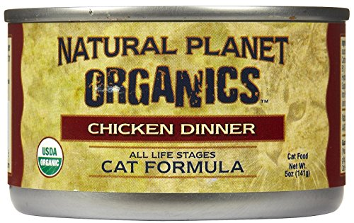Natural Planet Organics Chicken Dinner for Cats, Case of 12/5-Ounce cans