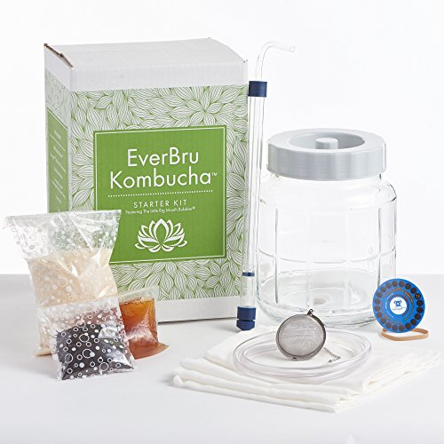 Northern Brewer- Kombucha Brewing Starter Kit With Scoby & Glass Fermenter Jar Equipment For Making 1 Gallon Batches At Home