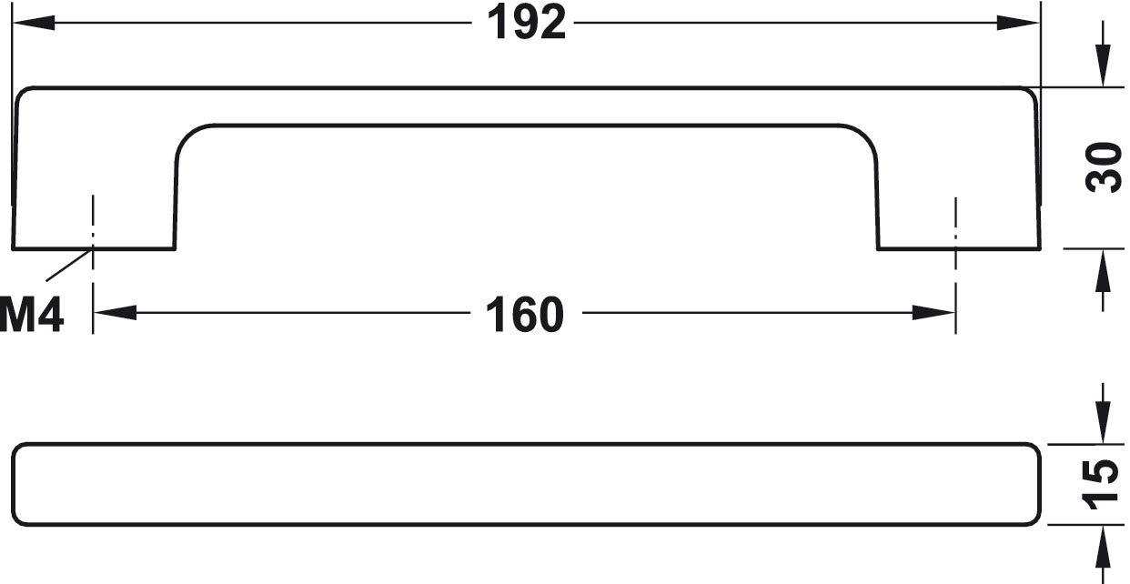 Gedotec M/öbelgriff Antik schwarz B/ügelgriff Vintage aus Metall Bohrabstand: 160 mm Design K/üchen-Griff eisenfarben aufgehellt 1 St/ück Schrankgriff eckig Kommoden-Griff zum Schrauben H10135