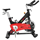 Professional Indoor Cycling Bike for Achieving Your Fitness Goals - Spinning Gym-Grade Cycle Bikes with Adjustable Seat and Heavy Duty Crank & Smooth Chain Drive Mechanism Stemax