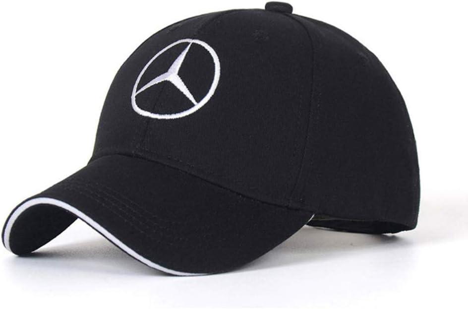 Unisex Hat Travel Cap Car Racing Motor Hat for Mercedes-Benz White DIY12345 Car Logo Adjustable Baseball Cap