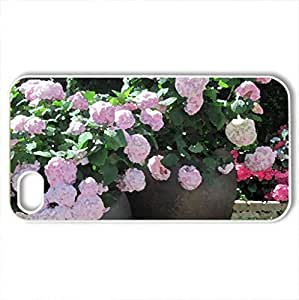 Attractive Flowers at the garden 86 - Case Cover for iPhone 4 and 4s (Flowers Series, Watercolor style, White)