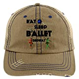 I Love Ballet Hat, Eat Sleep Ballet Trucker Cap (Trucker Cap - Khaki)