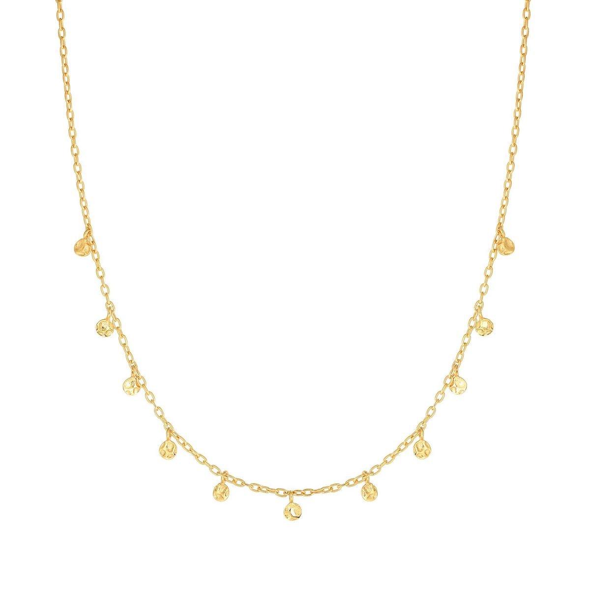Amanda Rose Fancy Choker Necklace in 14k Yellow Gold (16 inch)