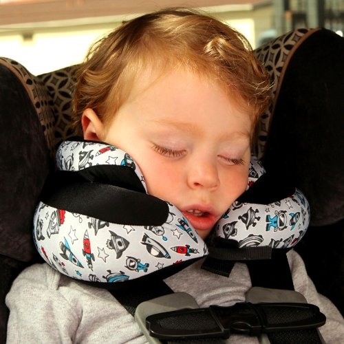 amazoncom cabeau kids evolution micro jr travel pillow the best neck pillow with 360 head neck support doodle clothing