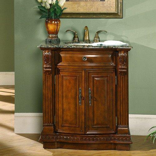 Silkroad Exclusive Bathroom Vanity HYP-0206-BB-UIC-33 Empress 33'' by Silkroad Exclusive