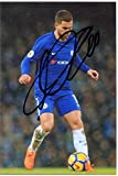 #4: EDEN HAZARD Signed 6 X 4 Inch Soccer Photograph. Genuine Autograph. COA! Free Frame!