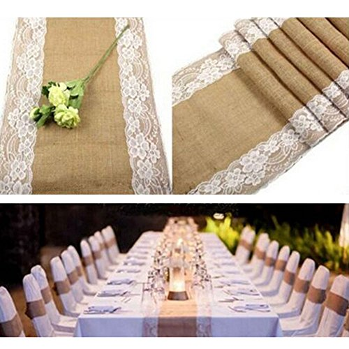 Burlap Table Runner, gloednApple 12