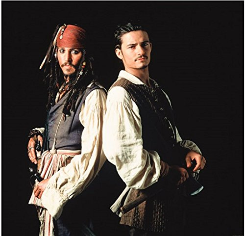 Pirates of the Caribbean Johnny Depp and Bloom Back to Back 8 x 10 Inch (Pirates Of The Caribbean Captain Davy Jones)