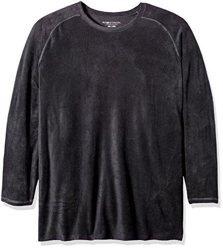 Fruit of the Loom Men's Premium Stretch Fleece Baselayer Top, Rich Black - Top Fleece Premium