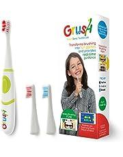 Grush GRSH-GK01 İnteraktif Oyunlar Entegreli Bluetooth Bağlantılı Cocuklar icin Akıllı Sonic Diş Fırcası, Cocuk Boyu, Yeşil