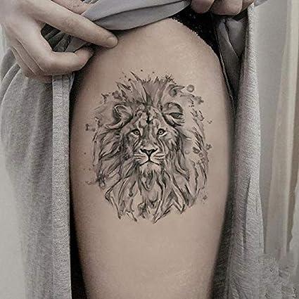 León gran tatuaje temporal pegatina impermeable hombres niños ...