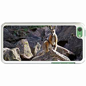Custom Fashion Design Apple for iphone 5c Back Cover Case Personalized Customized Diy Gifts In wallaby White
