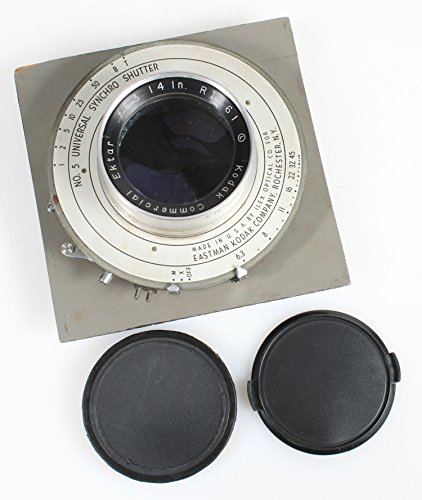 KODAK COMMERCIAL EKTAR 14 F 6.3 LARGE FORMAT LENS W/ BURKE & JAMES LENS BOARD from Kodak
