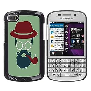 Dragon Case - FOR BlackBerry Q10 - For man is man - Caja protectora de pl??stico duro de la cubierta Dise?¡Ào Slim Fit