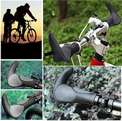 Mango para Bicicleta, 2PCS Puños para Bicicleta de Montaña Con Cuernos Antideslizante para Bicicleta, Moto, Plegable Bicicleta (22mm): Amazon.es: Industria, empresas y ciencia