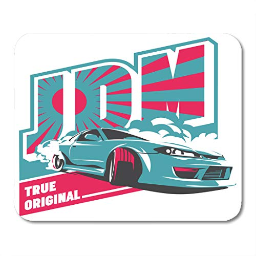 Cars Tuning Turbo (Boszina Mouse Pads Fast Burnout Car Japanese Drift Sport Jdm Racing Team Turbocharger Tuning for Sticker Badge Furious Mouse Pad 9.5