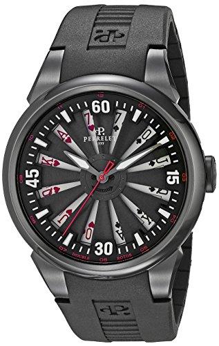 Perrelet Men's A4018/2 Turbine Poker Analog Display Swiss Automatic Black Watch